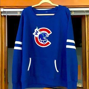 Custom sparkle Chicago Cubs sweatshirt women's 2x